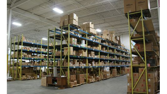 warehouse shelved items